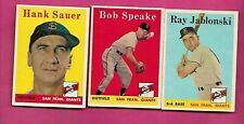 1958 TOPPS SAN FRANCISCO GIANTS EX-MT CARD LOT  (INV# C3947)