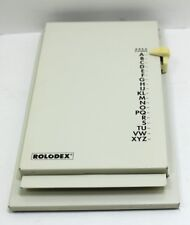 Vintage Rolodex Flip Up Beige Steel Address And Telephone Directory