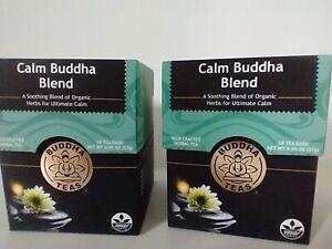 BUDDHA TEA ~ USDA Organic Calm Buddha Blend ~ 2 boxes / 36 tea bags