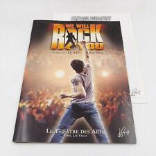 We will Rock You Musical by Queen Le Theatre Des Arts Paris Las Vegas Program
