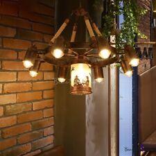 Wagon Wheel Dining Room Chandelier Lighting Fixture Warehouse Rustic 7/9 Lights