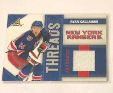 10-11 Panini Pinnacle Threads Jersey Ryan Callahan 50:499 Rangers
