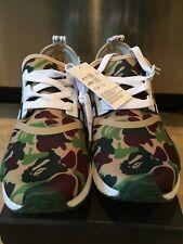 save off 94c80 6780a Nueva Marca Adidas NMD R1 Bape x Japón Verde Camuflaje Hombre Talla 9.5