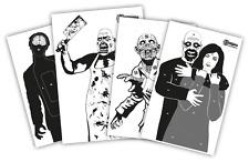 Zielscheiben Zombie Package / 4x5 verschieden große Zombie Zielscheiben