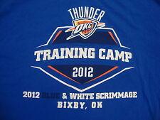 NBA Oklahoma City Thunder Training Camp 2012 Basketball Fan Blue T Shirt XL