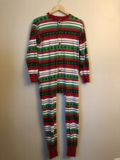 Lazy One Adult Size Small S Christmas Butt Flap Footie Pajamas Pjs Flapjack