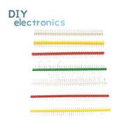 10pcs Pin Header PCB Panel 40Pin Male Row Straight Strip 2.54mm Colorful US