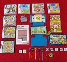 Nintendo DSi XL console bundle x 12 games, charger, case, media storage + more
