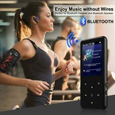 "Music MP3 Player Bluetooth 2.4"" Large Screen 16GB Black Slim Portable Size NEW"