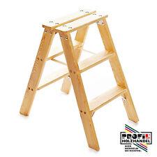 Klapptreppe Holzleiter Holztritt Leiter massiv Kiefer 3 stufig