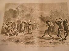Entrevue pacifique avec les Indiens Siriniris Peru Gravure Print 1872