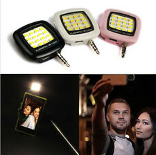 Universal 16 Led Selfie Fill Flash Light 3.5mm For Samsung iPhone Smartphone New