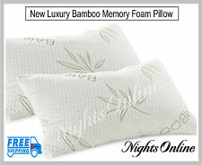 ** OFFERTA SPECIALE ** BAMBOO MEMORY FOAM PILLOW anti-batterico ORTOPEDICO