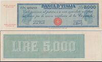 1948 Italia Banconota Lire 5000 Titolo Provvisorio D.M 28-01-1948 R2 Vedi Foto