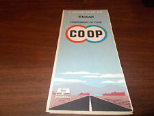 1962 Co-Op TEXAS Vintage Road Map