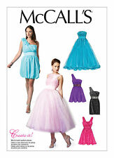 Sew & Make McCall's M6466 SEWING PATTERN Womens Formal Prom Party DRESSES 10-18