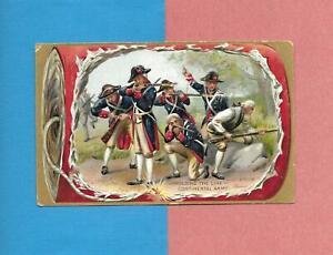 REVOLUTIONARY WAR SOLDIERS On TUCK Unused 4TH OF JULY Vintage PATRIOTIC Postcard