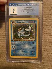 1999 Pokemon Jungle 1st Edition Vaporeon CGC 9 Holo 12/64