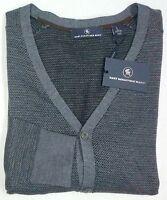 NWT $150 Hart Schaffner Marx Merino Wool Cardigan Sweater Mens M L XL NEW Grey