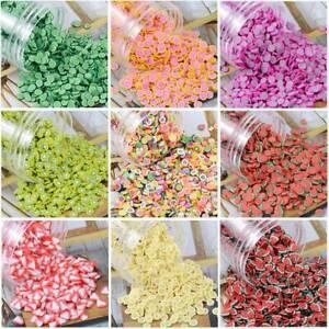 5000pcs 5mm Polymer Clay Beads Charms Flatback Fruit Flower Sticker Decor