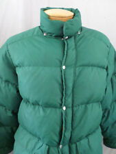 TRAILWISE true vintage green down feather puffer ski winter jacket MEDIUM