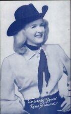 Cowgirl Movie Actress in Costume - Mutoscope Exhibit Card RENO BROWNE