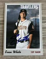 Evan White Signed 2019 Topps Heritage Minors Autographed Auto Card Mariners #2