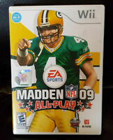 Wii Madden NFL 09 All-Play - Nintendo by EA Sports Brett Favre Cover