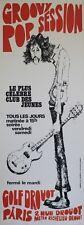 """""""GOLF DROUOT / GROOVY POP SESSION"""" Affiche originale entoilée J. LANGEVINE 1971"""