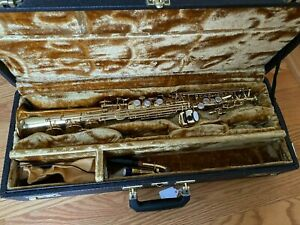 Yanagisawa ELIMONA 1986 Soprano Saxophone With Hard Shell Case Bundle NICE!!