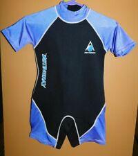 Aqua Sphere Stingray Wet Suit Blue Black Short Sleeve Children's XL (10+)