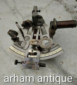 Vintage Navigation Working Sextant Nautical Maritime Ship Instrument Germany