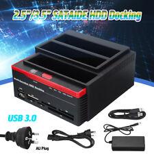 """USB 3.0 3Bay SATA IDE Hard Drive Docking Station 2.5""""/3.5"""" HDD Dock Clone CF/TF"""