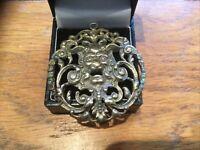 Pewter Cernunnos Pendant Horned God. Lilac Celtic