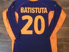 2001 2002 Roma Batistuta L/s Away Football Shirt Adults XXL Jersey Maglia