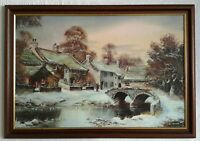 John Corcoran Wycoller Lancashire in Winter Print Framed