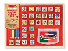 Kids Stamp Set Craft Art 26 4 Color Gift Boy Girl Animals Washable Ink Color NEW
