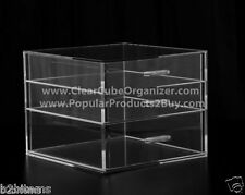 Acrylic Lucite Clear Cube Makeup Organizer The Kardashians Display 3 pull out dr