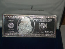 $100 Commemorative Federal Reserve Silver Note 4 ounces .999 Fine Year 2000