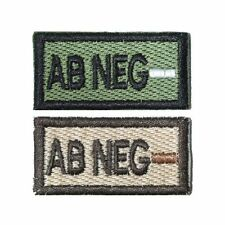 AB- AB Neg Self-Adhesive Blood Patch in Olive and Tan 1x2in