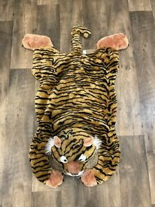 Chrisha Creations Playful Plush Tiger Faux Fur Floor Rug Kids Room Play Mat