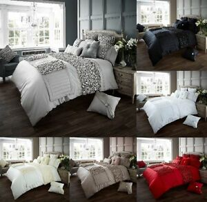 Verina Luxurious Frill Designer Duvet Covers Quilt Covers Bedding Sets / Runners