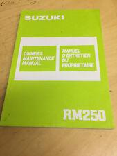 USED OEM SUZUKI RM250 OWNER'S MANUAL PUB. DEC. 1986 # 99011-00B22-01B