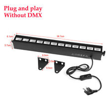 6/9/12led UV Wall Wash Light Bar Blacklight DJ Party Stage Christmas Effect Lamp 36w