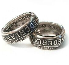 Silver Coin Ring Netherlands 2 1/2 Gulden - Dutch 2.5 Guilder ring - Holland