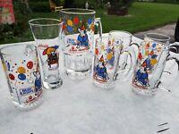 SPUDS MACKENZIE  BUD LIGHT BEER MUG- 1987 Set Of 7 32 oz mug Pilsner 12 oz mugs