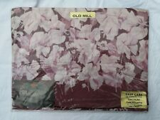 Vintage Old Mill Dark Pink Floral Circular Tablecloth 173cm