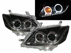 AURION XV40 MK1 06-08 4D LED Halo Projector Headlight Black ASIA for TOYOTA RHD