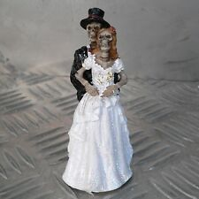 Brautpaar Skelett Zombie 9,5cm Skull Biker Hochzeit Geschenk Figur Tortenfigur