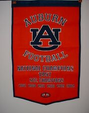 Auburn Tigers Football Dynasty National Champions 1957 Wool Embroidered Banner